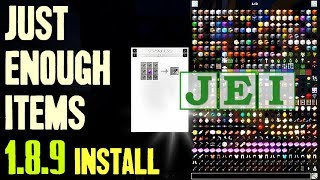 JUST ENOUGH ITEMS MOD 1.8.9 minecraft - how to download and install JEI 1.8.9 (with forge)