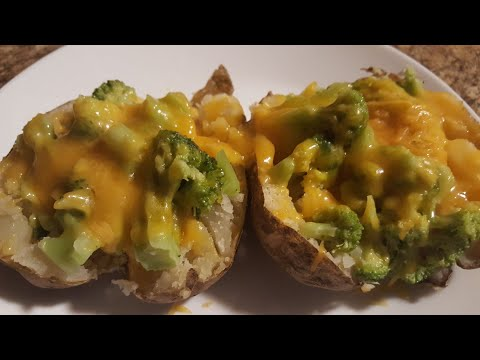 Broccoli and Cheddar Cheese Baked Potato | Preparing my husband's meal for work