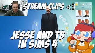 Trying to make Jesse Cox and TB - Sims 4 Stream Clip