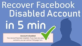 How to Recover Disabled Facebook Account in 5 minutes 2018 easy step by step FB Id