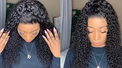 🔥 Affordable Pre plucked Deep Wave Curly 360 Lace Wig Install FT Omgqueenhair