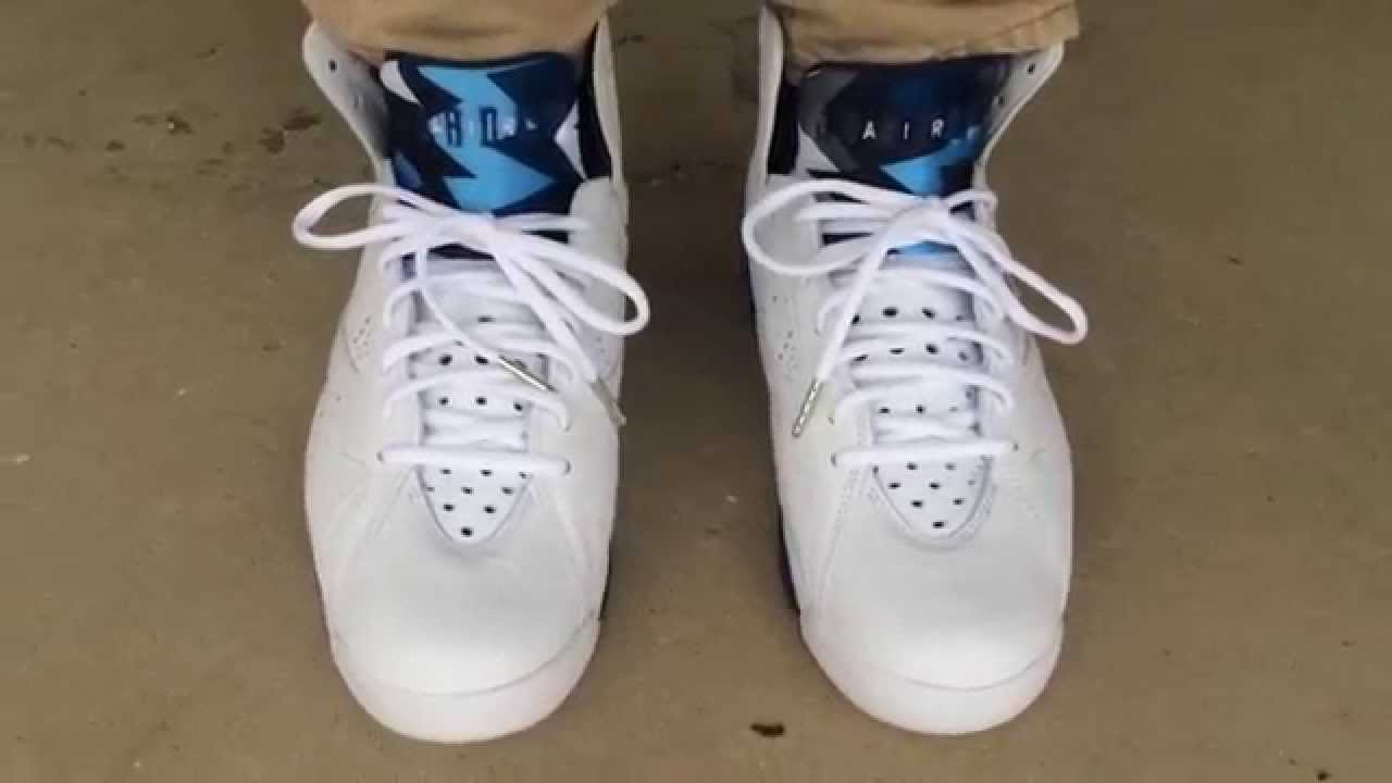 9fa363a49172 ... discount air jordan 7 vii retro french blue on feet youtube febd7 51ff4