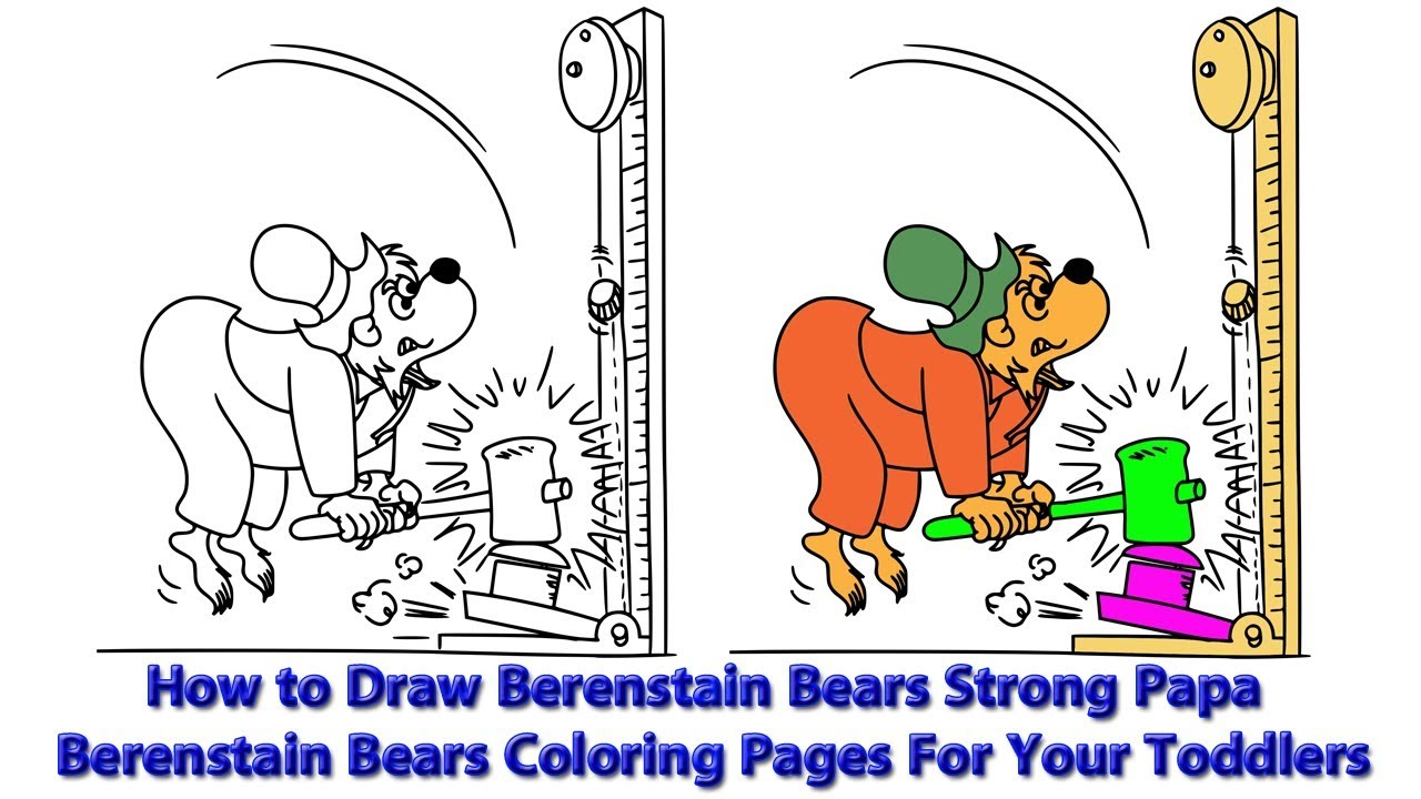 - How To Draw Berenstain Bear Strong Papa Berenstain Bears