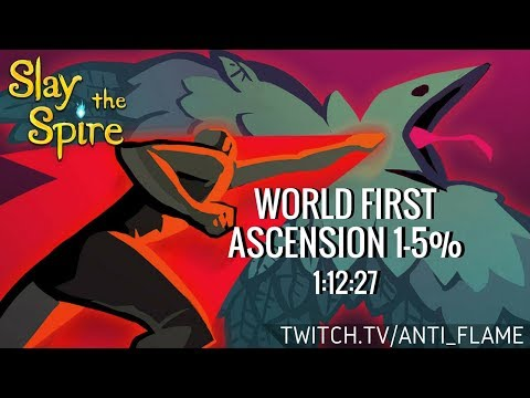 Slay the Spire Speedrunning - World First Ascension 1-5%