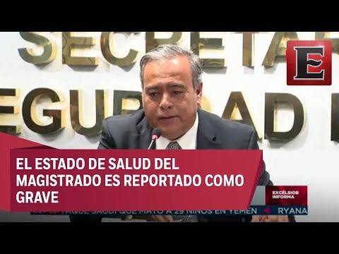 Conferencia de prensa sobre el ataque a magistrado en Coyoacán