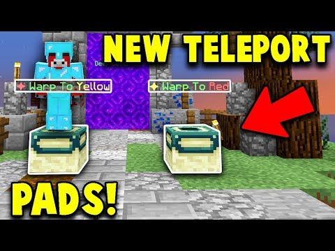Using The New Teleportation Pads! (hypixel Skyblock Guesting Update)