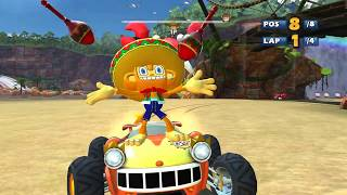 Sonic & Sega all star racing all characters all stars in 4K