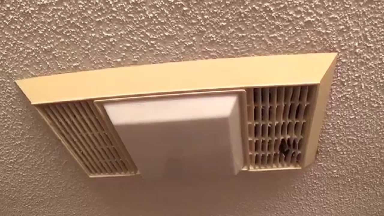Vintage miami carey bathroom exhaust fan youtube for Bathroom exhaust fan cover