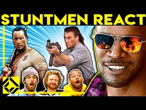 Stuntmen React To Bad & Great Hollywood Stunts 27