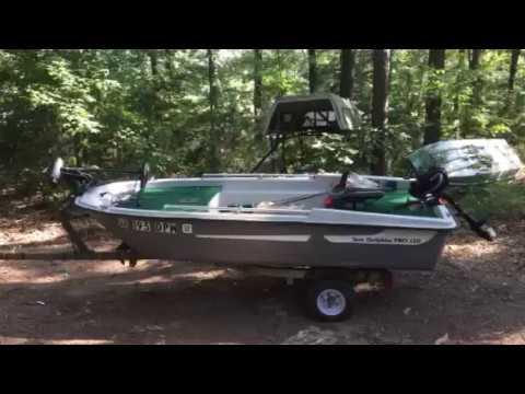 Sun dolphin 120 pro bass boat youtube for Sun dolphin pro 10 2 fishing boat