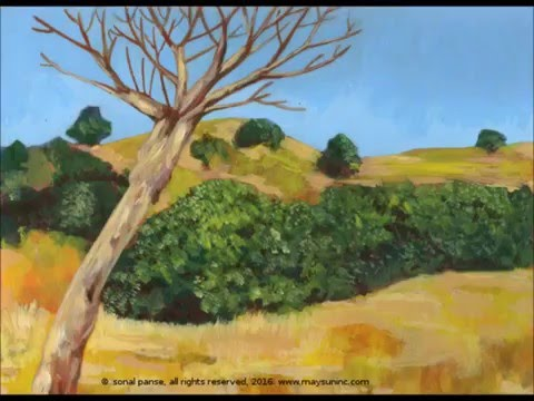 April Landscape Paintings  by Sonal Panse