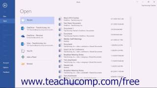 Word 2016 Tutorial Recovering Unsaved Documents Microsoft Training