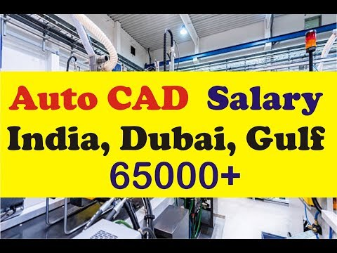 Auto Cad Job Salary In India And Gulf | Online Job Salary & Education