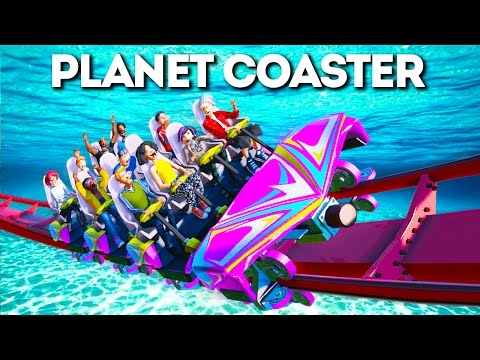 THE UNDERWATER ROLLER COASTER! (Planet Coaster #5)