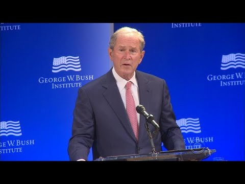 Former President George W. Bush criticizes political tone in the country