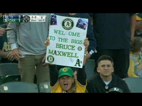 TB@OAK: Maxwell steps in for his Major League debut
