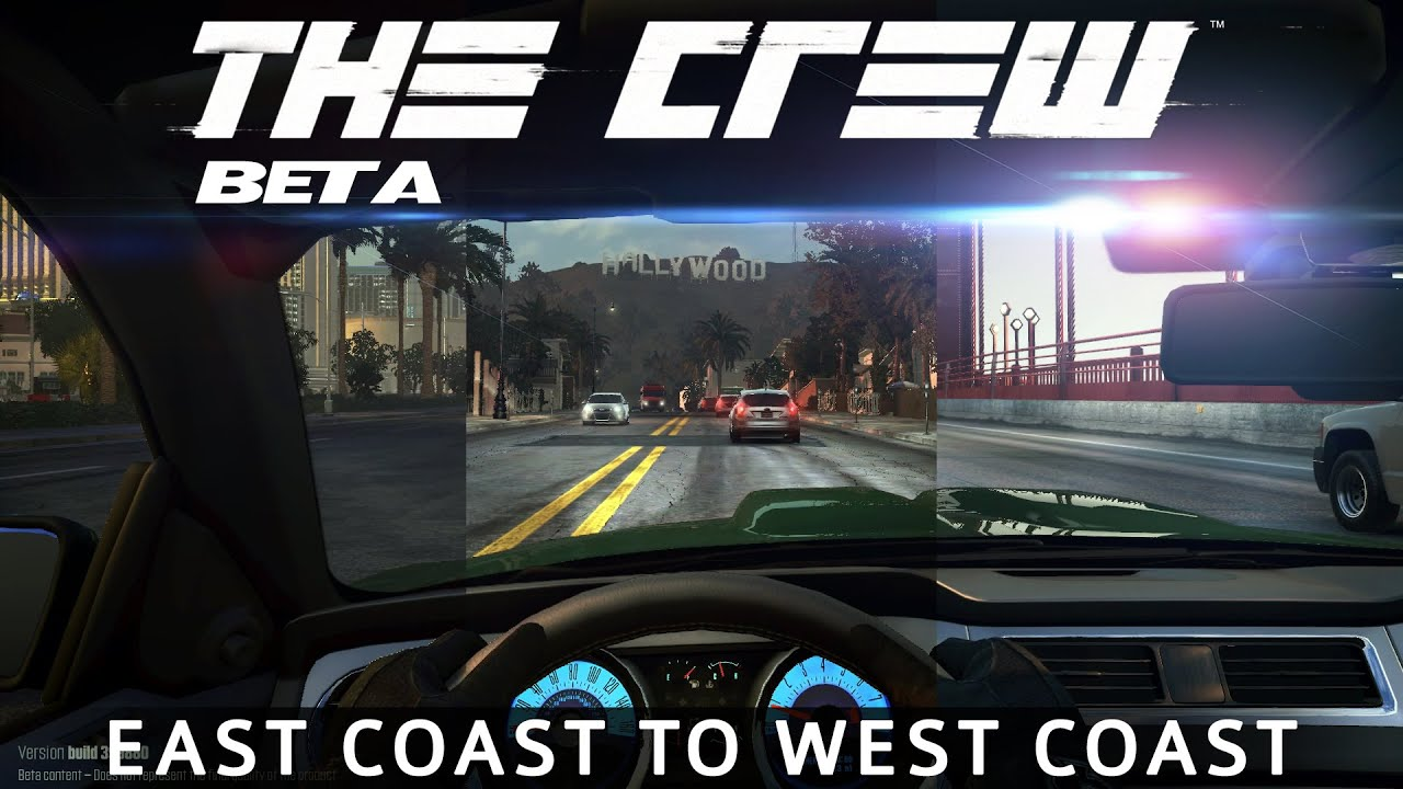 The Crew Final Beta Across The Map Gameplay East Coast To - Video of car driving across us map