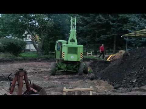 Weimat T174-2 mobile excavator in work progress