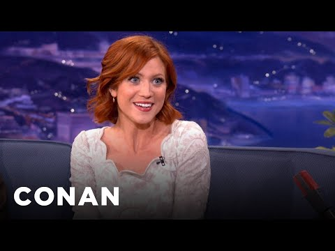 Brittany Snow Trained Her Dog With A Cartoon Voice  CONAN on TBS