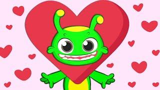 Новости! Groovy Марсианская песня поет If You're Happy Valentine's День Святого Валентина | Питом