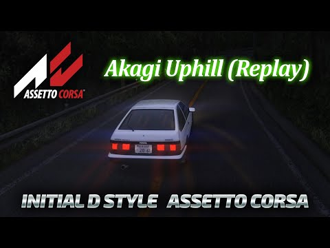 Assetto Corsa in the style of an Initial D game  