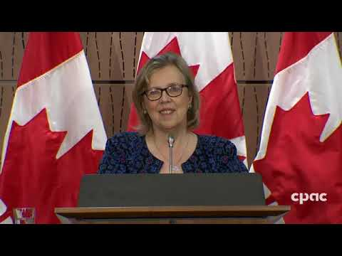 Press Conference: Elizabeth May Comments On U S  Anti Racism Protests