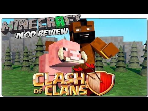 CLASH OF CLANS MOD PARA MINECRAFT 1.8 | Los Mobs Más Fuertes De La Historia | MINECRAFT MODS