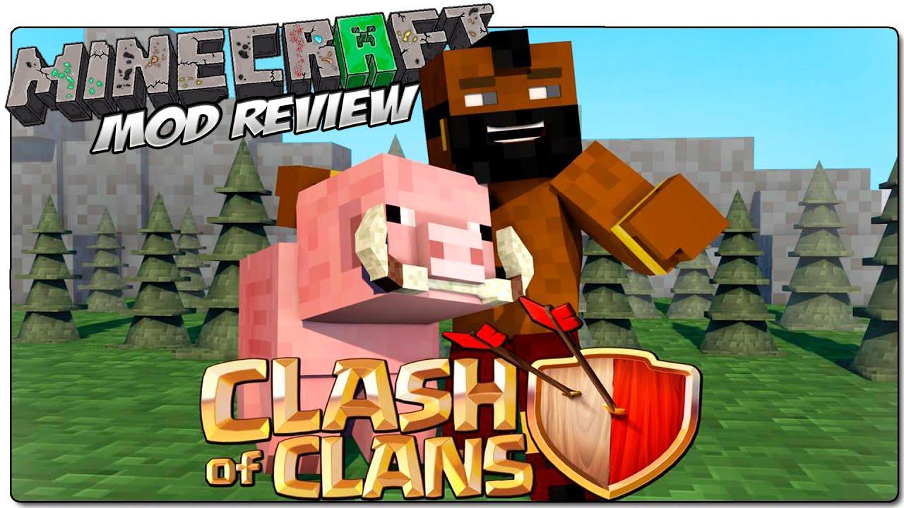 Мод на майнкрафт 1.8 clash of clans