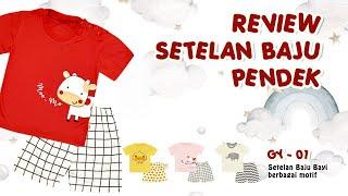 Setelan Baju Anak Balita Bayi BABY LEON SBJ-GY01 Setelan Kaos Pendek Celana Pendek Anak Balita Perempuan Laki-Laki Baju Tidur Bayi