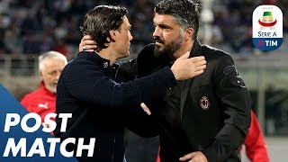 Fiorentina 0-1 Milan | Vincenzo Montella and Gennaro Gattuso Post Match Press Conference | Serie A