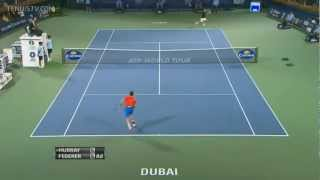 Federer vs Murray. Two dropshot returns in one game.