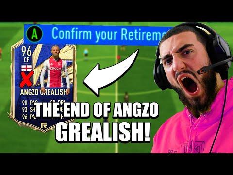 I RETIRED ANGZO GREALISH'S FOOTBALL CAREER..THE END OF ANGZO!😳(RAGE) - FIFA 21 CAREER MODE #25 |