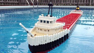 Floating LEGO Edmund Fitzgerald Model【8 feet long!】