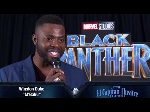 Winston Duke at The El Capitan Theatre for Opening Night of Black Panther