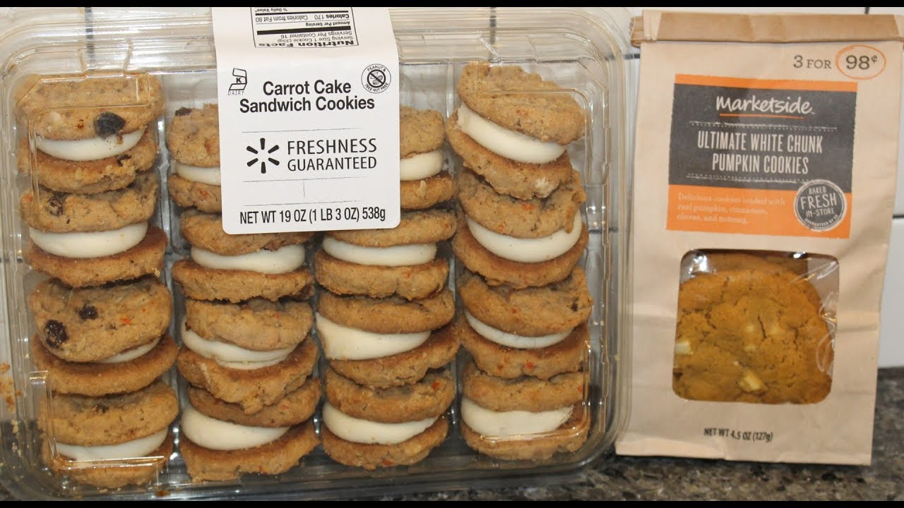 Walmart Carrot Cake Sandwich Cookies Marketside Ultimate White Chunk Pumpkin
