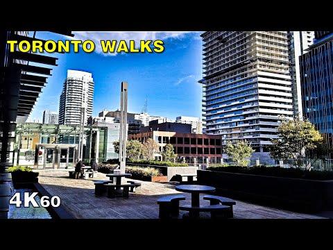 Midtown Toronto Walk Around & Eglinton Centre Rooftop Patio [4K60]