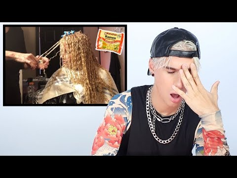 Hairdresser Reacts to Ramen Noodle Perm