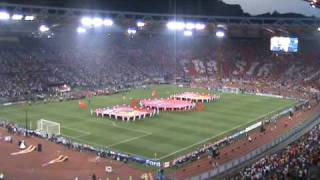 Uefa champions league final opening ceremony - rome 2009 barcelona manchester united (andrea bocelli))