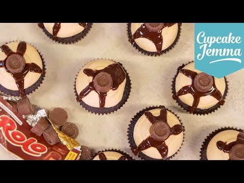 How to Make Tasty Rolo Cupcakes   Cupcake Jemma
