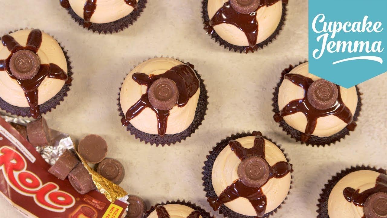 How to Make Tasty Rolo Cupcakes | Cupcake Jemma