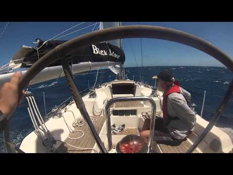Rolex Sydney to Hobart 2013 Black Adder Before Bass Straight 28/12/2013