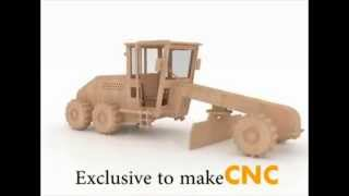 Road Grader Wood Toy 3d Puzzle For Cnc Router Laser Or Scroll Saw