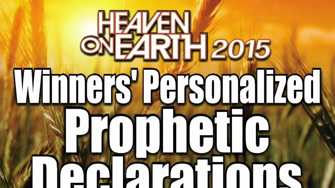 2015 Winners Prophetic Declarations / Prayer