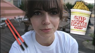 Making my OWN cup noodles in Japan!