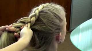 Обратная, перевернутая французская коса