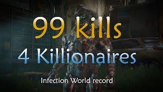 99 kills with 4 KILLIONAIRES - Halo 5 infection