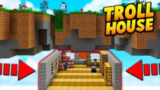 UNDERGROUND TROLL BASE! - Minecraft SKYWARS TROLLING! (Mega Mode!)