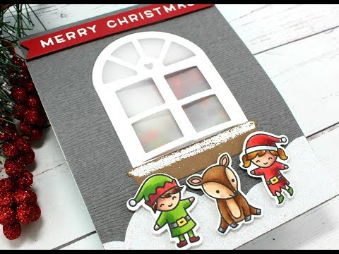 Christmas Window Scene | Lawn Fawn