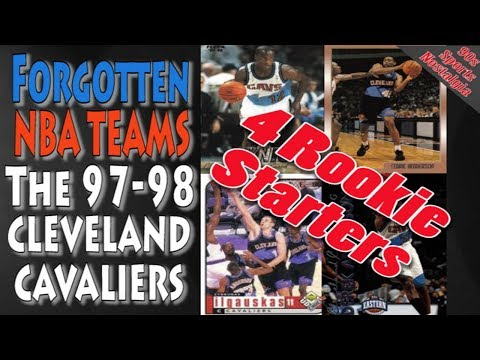Forgotten NBA teams - The 1997-1998 Cleveland Cavaliers With 4 Rookie Starters and Made the Playoffs