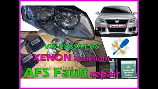 VW Passat B6 3C xenon headlight AFS (Kurvenlicht) fault troubleshooting and AFS module replacement